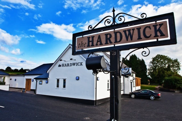 The Hardwick, Abergavenny, Gwent. Lovely Valentine's meal here, delicious. :)