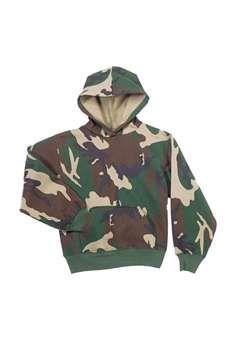 Kids Woodland Camo Hooded Pullover Sweatshirt ! Buy Now at gorillasurplus.com