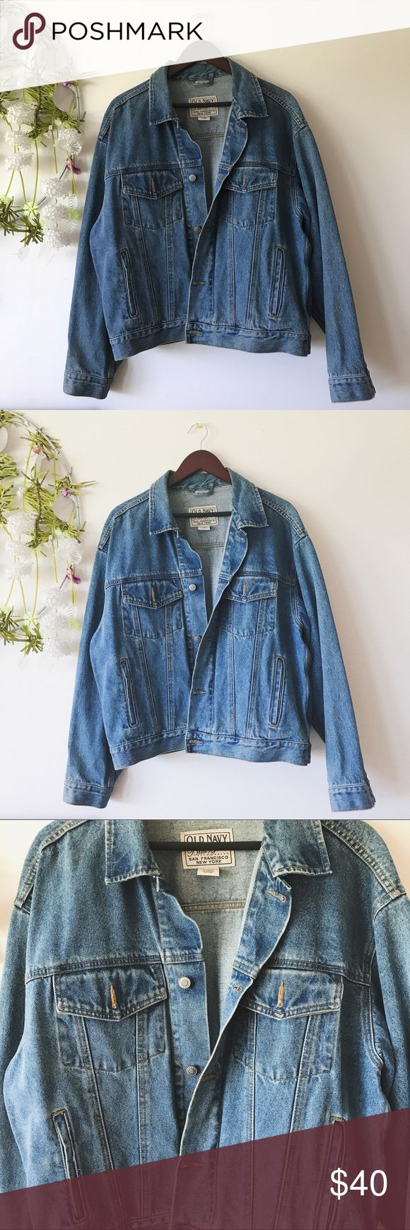 • Vintage Old Navy Jean Jacket • Very classic looking jean jacket. No signs of wear. Could fit oversized for women's Large Old Navy Jackets & Coats
