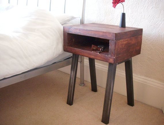 Beautiful handmade bedside table / cabinet by Redcottagefurniture