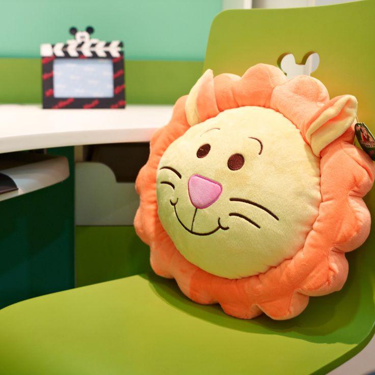 círculo oficina cojín cojines dibujos animados león cerdo de ...