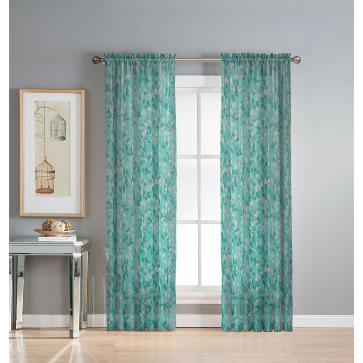 Winston Porter Simpson Nature Floral Semi Sheer Grommet: 25+ Best Sheer Curtain Panels Ideas On Pinterest