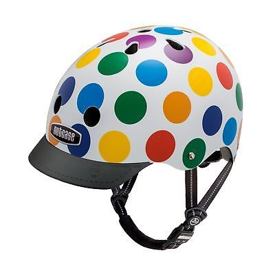 Nutcase - Patterned Street Bike Helmet for Adults Dots Medium1  Color - Dots, UPC - Does not apply, Size - Medium