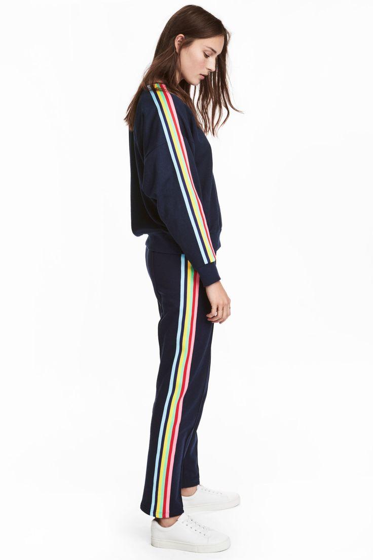 Pull-on trousers - Dark blue - Ladies | H&M GB
