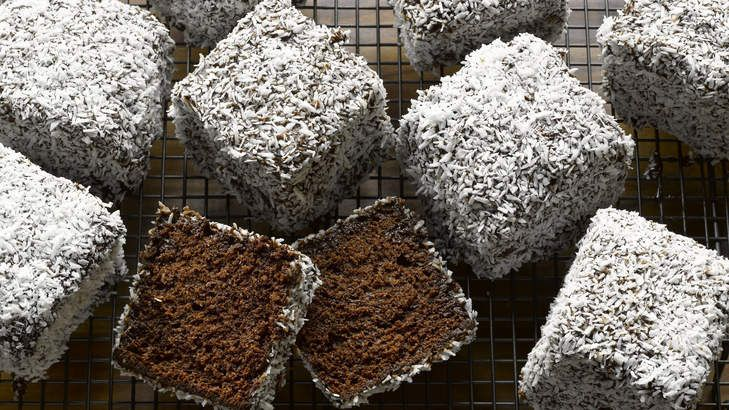 Dan Lepard puts a double-chocolate twist on lamingtons.