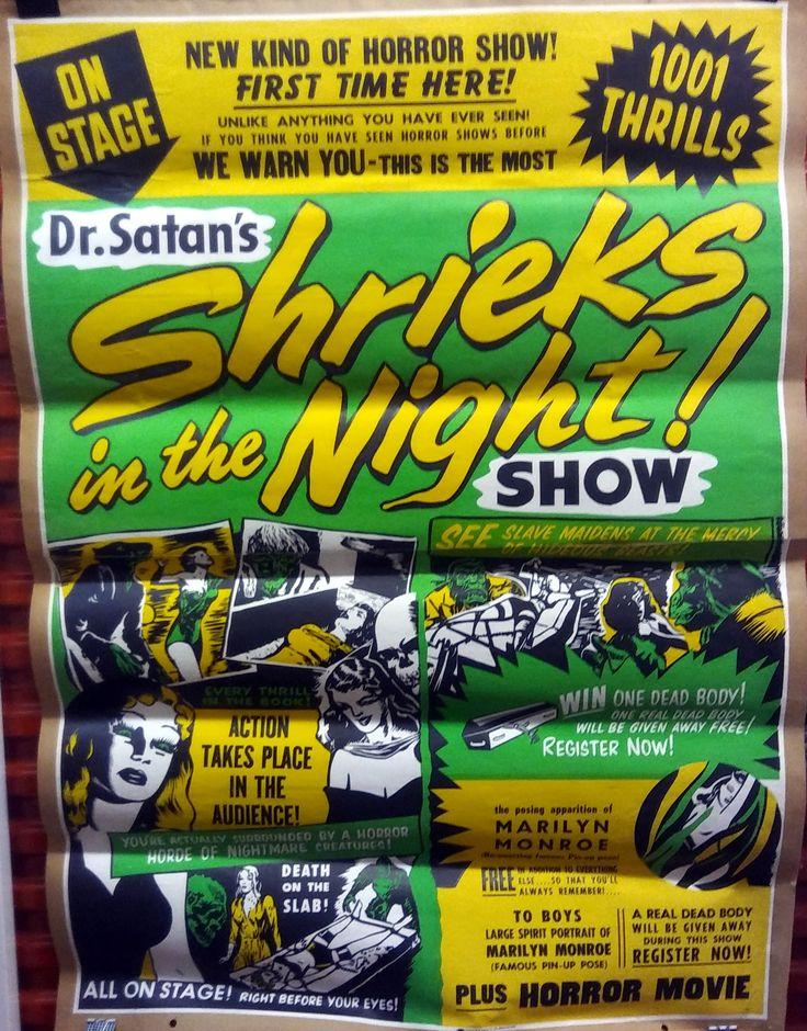 Dr Satan [Phil Morris] Shrieks In The Night one sheet Spook Show poster