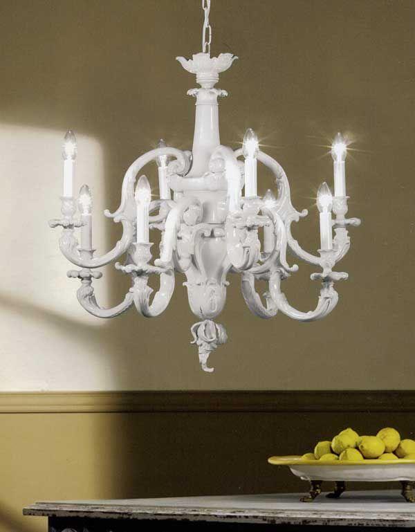 Lampadari per salone classico : 21897 8 di mangani sku m21897 8 lampadario 8 luci finitura porcellana ...
