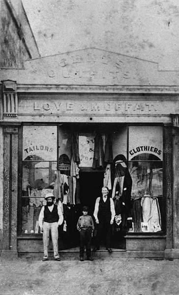 Love & Moffat, gentlemen's outfitters, Queen Street, Brisbane, ca. 1873