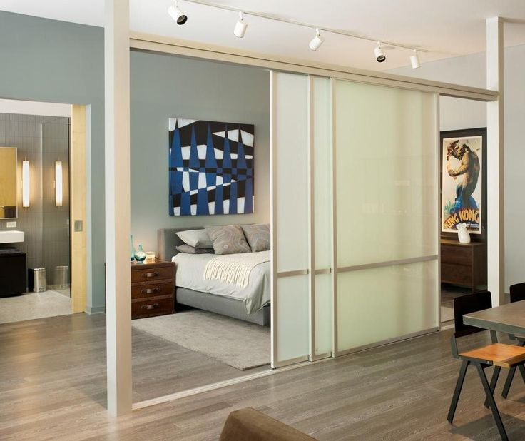 Enchanting Sliding Door Bedroom Divider Ideas With Wooden Floor Also Dining  Set In The Nearby Including
