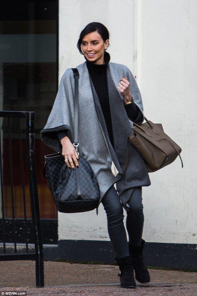 Christine Bleakley caps her 36th birthday celebrations in stylish grey #dailymail