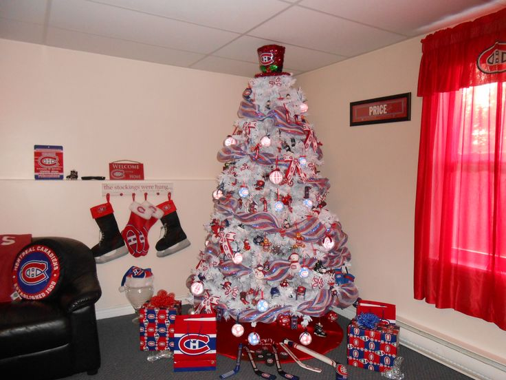 Montreal Canadiens Habs Christmas Tree 2016