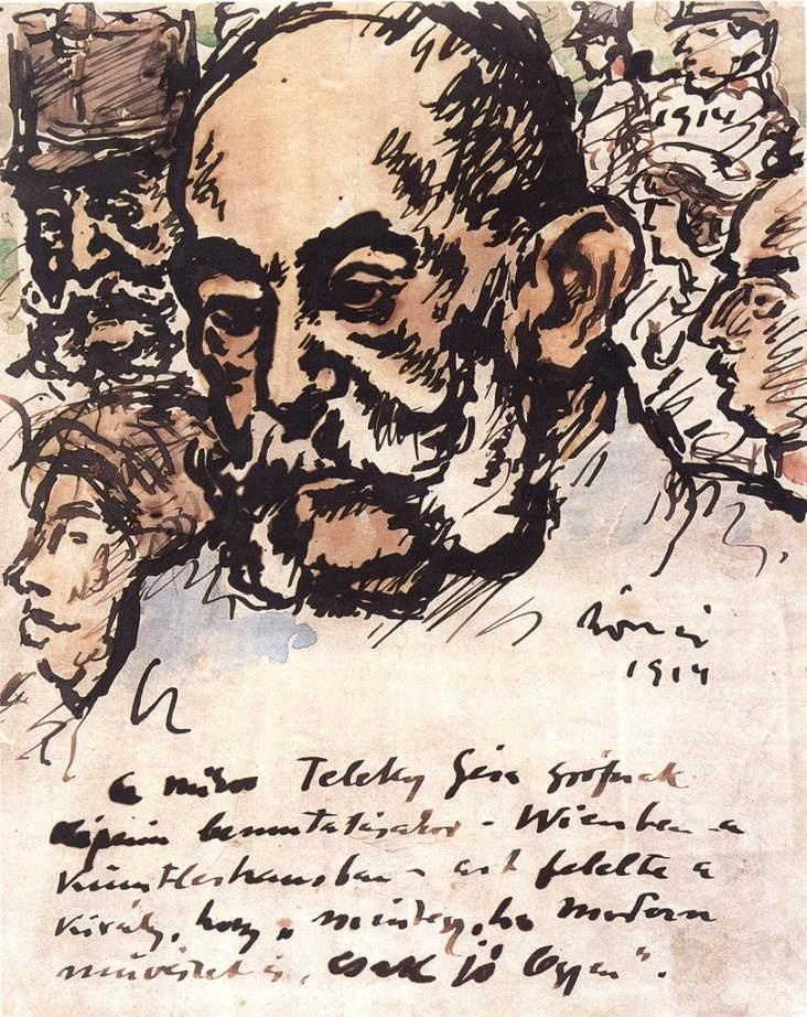 Rippl-Rónai, József (1861-1927)  Emperor Franz Josef  Date: 1914  Movement: Nabis  Theme: History  Technique: Pen and ink  Museum: Hungarian National Gallery  Location: Budapest, Hungary