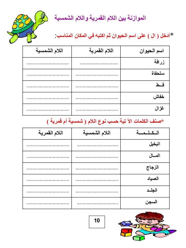 تدريبات عن اللام الشمسية والقمرية Cluber Father Quotes Islam For Kids Teach Arabic