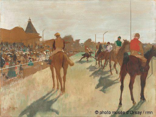 musee-orsay. Aller aux courses hippiques avec Edgar Degas pour les fans du dimanche aux courses et pour les autres