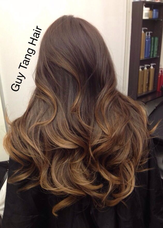 Chocolate caramel Ombre by Guy Tang | Balayage Ombre ...