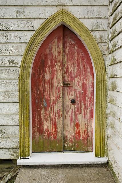 Church door, New Zealand.