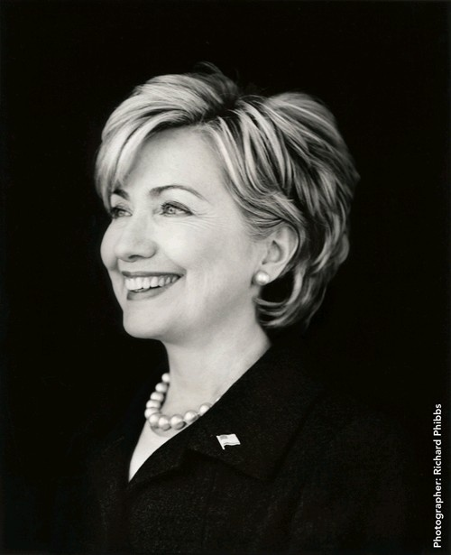 Hilary Clinton--not sure why she stays with Bill, but she's definitely a smart and interesting woman.