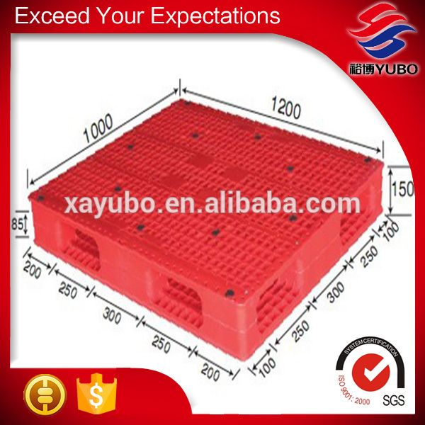 standard size transportation double-faced plastic pallets