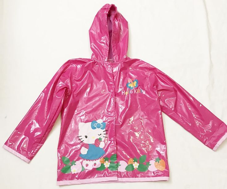 Hello Kitty Kids Girls 6 / 6X Pink Hooded Rain Coat Jacket Waterproof Youth #HelloKitty #fashion #style #3ds #vintage #shopping #clothing #ebayseller #abestbra #instagood #fashionista #paypal #toys #ebaystore #vinyl #holidaygifts #collectibles #vinyligclub #dress #accessories #pokemon #art #ootd #mens #shoes #instadaily #shop #selling #RainGear #raincoat