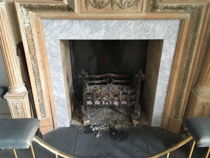 Carrara Marble Slips and Italian Black Slate hearth