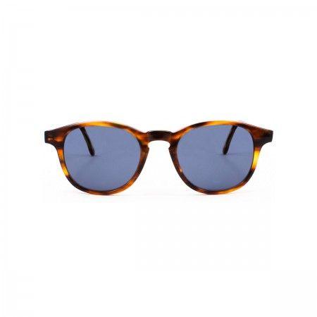 Gordon cc sunglasses with a soft streaked frame. Standard grey-blue lenses.