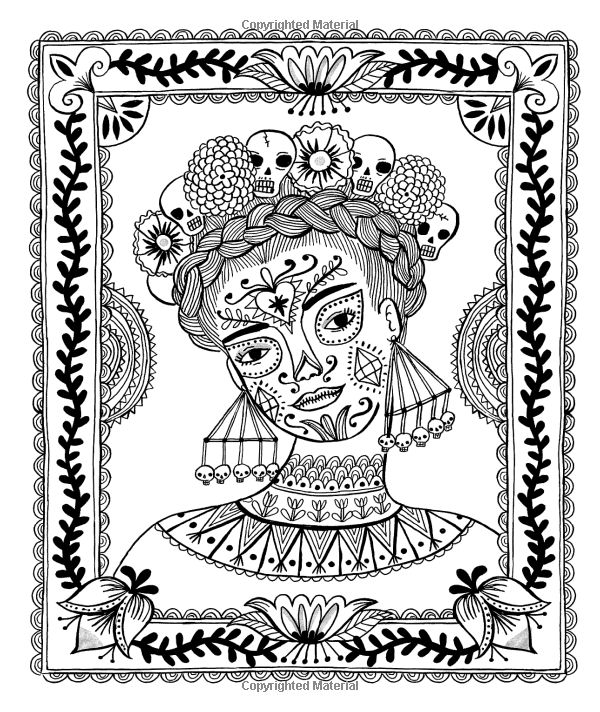Just Add Color: Day of the Dead: 30 Original Illustrations To Color, Customize, and Hang: Sarah Walsh: 9781592539512: AmazonSmile: Books