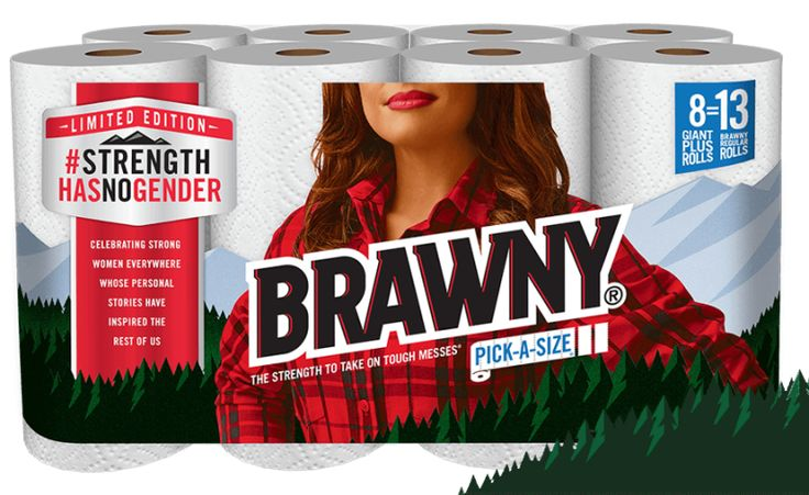 The Brawny Paper Towel Man Just Got Replaced With a Woman