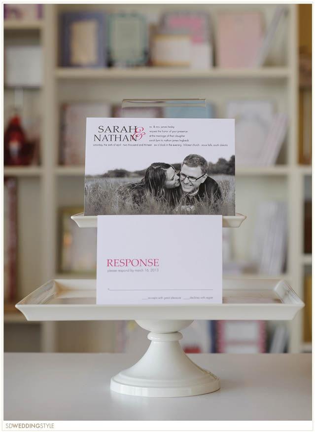 South Dakota Contemporary Wedding Stationery by Envision Wedding Studio.