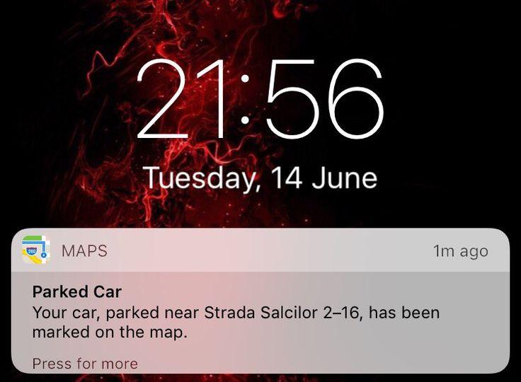 iOS 10 marcheaza pe harta locul in care ai parcat masina