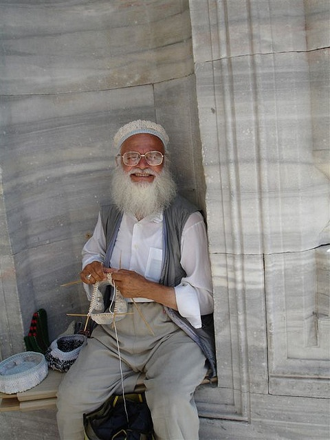 Another long-time Flickr favorite - Turkish man knitting in the round