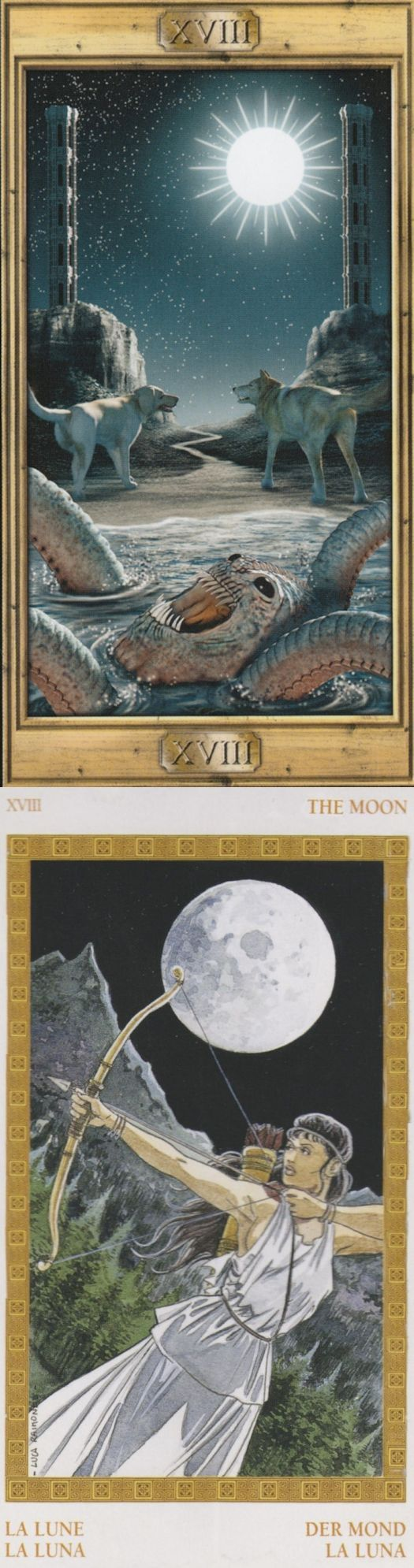 THE MOON: unconscious and confusion (reverse). Pictorial Tarot deck and Olympus Tarot deck: tarotde marseille, tarotlot vs free tarot reading on line. New fortune telling machine and tarot art nouveau. #hangedman #android #wicca