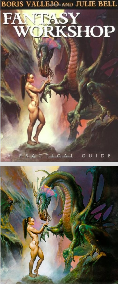 BORIS VALLEJO - Dark Whisper - Fantasy Workshop: A Practical Guide By Boris Vallejo - 2003 Thunder's Mouth Press - cover by Amazon