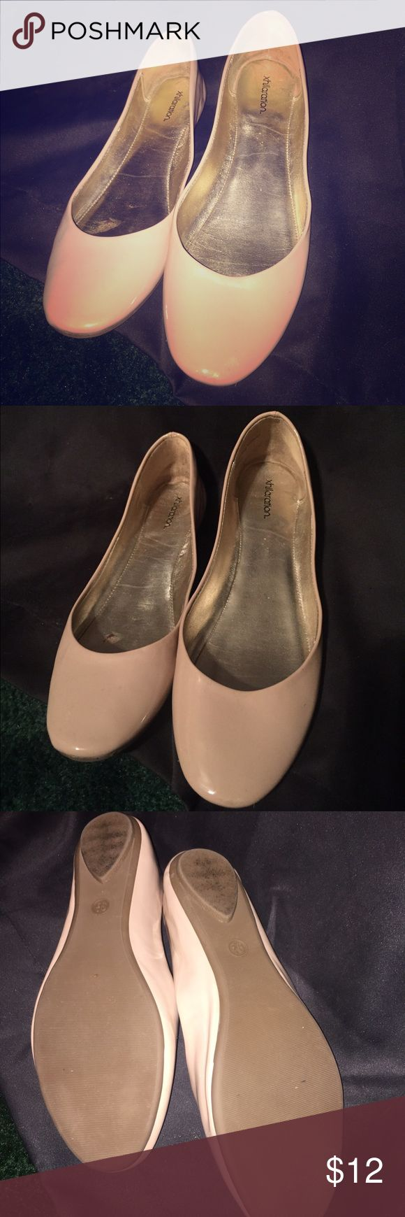 Nude Flats Worn once nude flats! US size 9.5 fit more like a 9. Very comfortable. In great shape!! Xhilaration Shoes Slippers