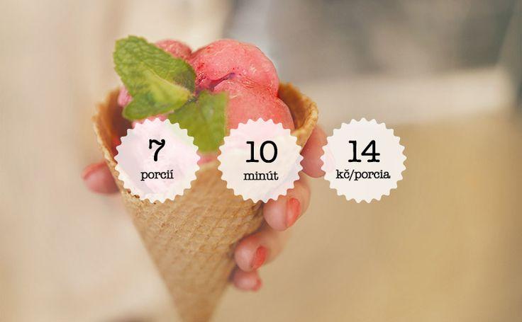 Malinová zmrzlina