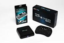 The Spiderbox Kodi Live Streaming Internet TV Box w/ Mini QWERTY Keyboard.