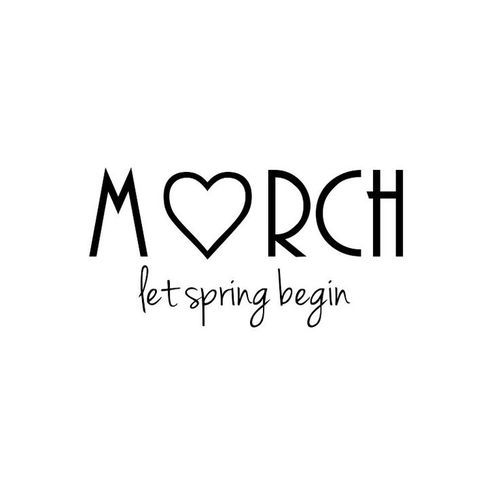 Hello March! Let the new season begin!