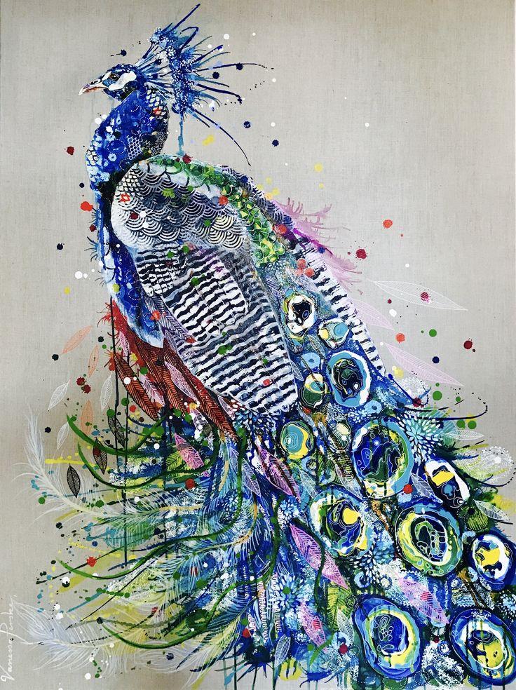 Peacock painting www.vanessaperske.com
