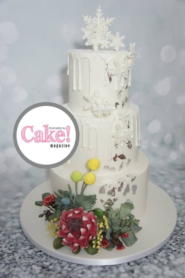 As seen in the Winter Wonderland issue of Cake! magazine, August 2017 by Sweet Affection Cake Designs  Read online and subscribe for free here: http://joom.ag/R63L A free digital magazine published quarterly by the Australian Cake Decorating Network