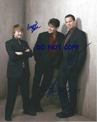 TWO AND A HALF MEN Management SIGNEDALL 3 WITH COA ORIGINAL AUTOGRAPH CHARLIE SHEEN