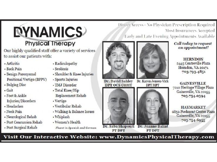 Physical Therapy Fairfax VA | Visit: http://www.dynamicsphysicaltherapy.com/