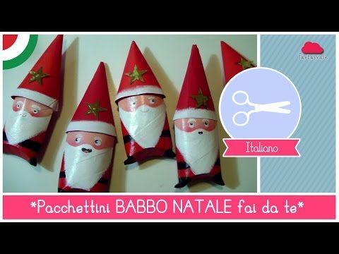 Pacchettini di Natale fai da te a forma di BABBO NATALE - Idea per Bambini (RICICLO CREATIVO) - YouTube