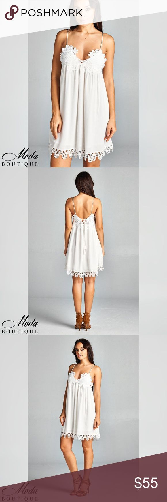 Spaghetti Strap Summer Sun Mini Dress Spaghetti Strap Summer Sun Mini Dress Color White Model wearing a small Material100% Rayon Notes: These are quality boutique garments, not something off a Chinese website! They are the same pieces that are resold in popular stores like Nordstrom's, Saks Fifth, and higher end boutiques. Free People Anthropologie Urban Outfitters Madewell Modabyboutique Moda Boutique Moda SF SFmoda wholesale @wholesales boutique clothing A.Peach Dresses Mini