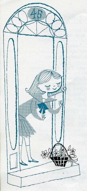 "From ""Finger & Action Rhymes"" by Mabelle B. McGuire. Illustrated by Cynthia Amrine. 1959."