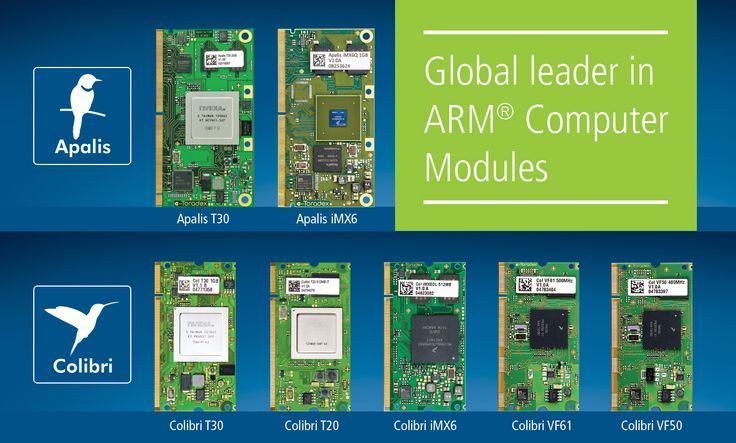 Check out the highly miniaturized yet powerful pin-compatible Toradex's family of ARM System on Modules! The pin-compatible Colibri and Apalis ARM embedded computer on module product families are based on NVIDIA Tegra, Freescale Vybrid and iMX6, as well as Intel/Marvell® XScale. Colibri and Apalis computer modules deliver cost-performance optimized designs. To have a better understanding of our exciting range of Computer on Modules follow the link: https://www.toradex.com/computer-on-modules
