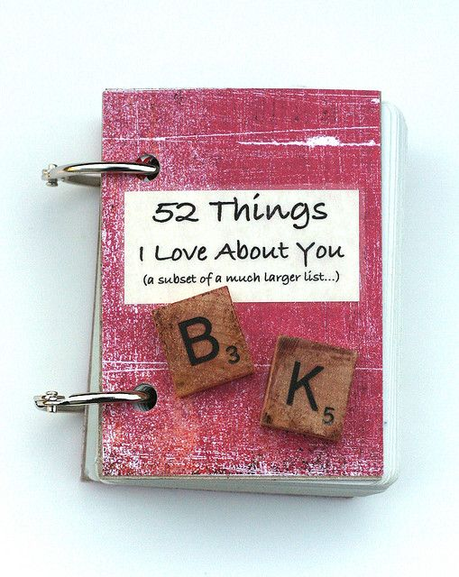 A little book...I did this simple and cute craft for the love of my life and he loves it! Great idea