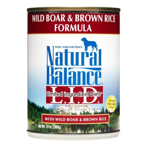 Natural Balance Limited Ingredients Diet Wild Boar & Brown Rice Wet Dog Food, 13 Oz (Case of 12) | Jet.com