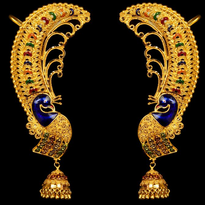 Vummisi jewellers Gold-Buttalu-Jhumka - Latest Jewellery Designs
