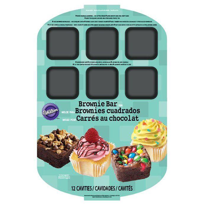12 Cavity Brownie Bar Pan Gadgets Kitchen Cooking Baking