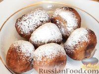Фото к рецепту: Творожные пончики за 10 минут