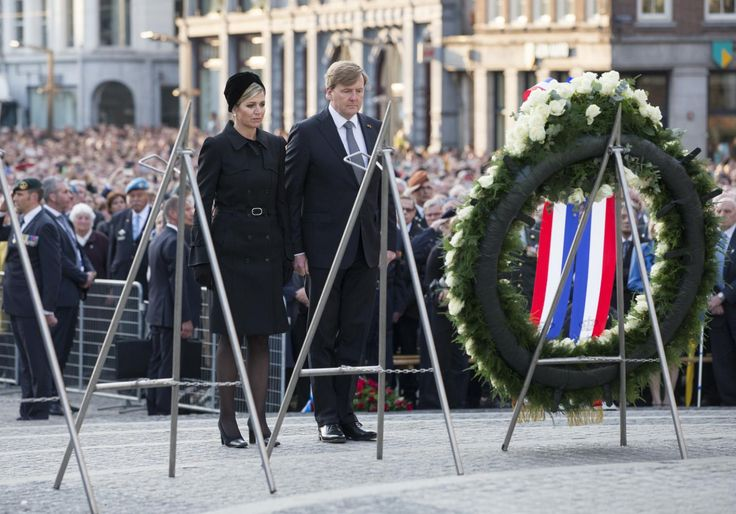 King Willem-Alexander & Queen Maxima 4 May, 2017, Remembrance Day victims World War 2.